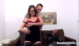 French Gonzo Brunette Sandy Lou Gets Fucked In Il Perd Le C…
